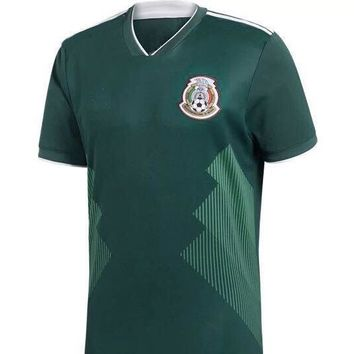 TOP QUALITY 2018 World Cup Mexico home green soccer jersey 17 18 CHICHARITO M FABIAN G DOS SANTOS away white football uniform shirts