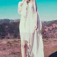 For Love & Lemons Wild Horses Dress in Ivory