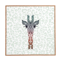 Monika Strigel Giraffe Meets Leopard Framed Wall Art