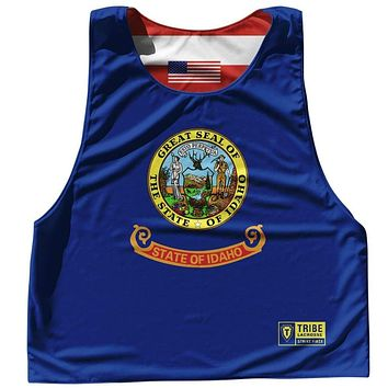Idaho State Flag and American Flag Reversible Lacrosse Pinnie
