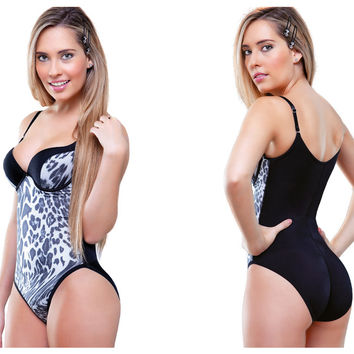 Vedette Angelique Animal Print Body Shapewear.