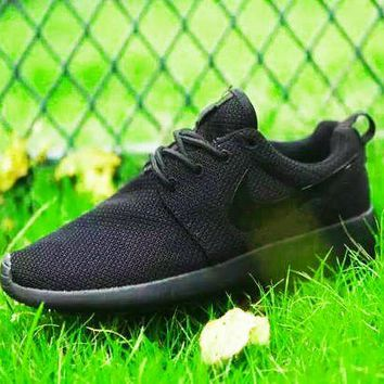 Nike Roshe Women One Shoes All Black Sneakers Sport Shoes