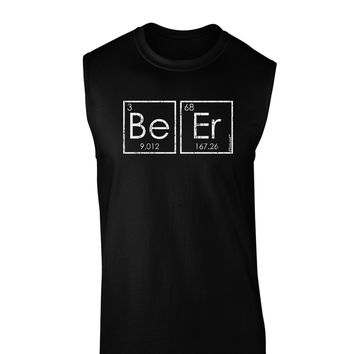 Be Er - Periodic Table of Elements Dark Muscle Shirt  by TooLoud