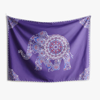 Purple Elephant Tapestry