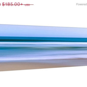 Large Canvas Wall Art, Abstract Ocean Photo, Seascape Photography Nantucket Artwork Coastal Beach Decor Nautical Decor Blue Teal Beige White