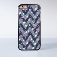 Sharp Flower Print Chevron Plastic Case Cover for Apple iPhone 6 6 Plus 4 4s 5 5s 5c