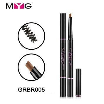 MYG 2 In 1 Eyebrow Pencil Makeup Waterproof Beauty Eyebrow Enhancer Makeup 5-Color For Blondes With Comb maquiagem Free Shipping