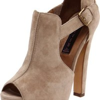 Steven by Steve Madden Women's Gallah Platform Pump,Taupe Suede,6.5 M US