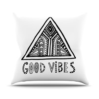 "Vasare Nar ""Good Vibes"" Throw Pillow, 26"" x 26"" - Outlet Item"