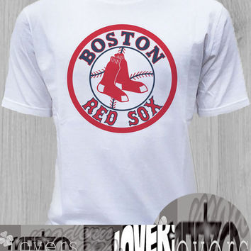 Boston red sox TShirt Tee Shirts Black and White For Men and Women Unisex Size