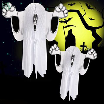 Halloween Party Supplies Ghost Hanging Ornament Home Wall Decor Halloween Outdoor Decoration Trick or Treat Supplies