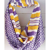 GAME DAY SCARF LSU Tigers Purple Gold Infinity Shop Simply Me Boutique – Simply Me Boutique