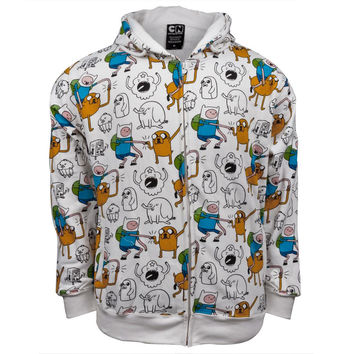 Adventure Time - Jack and Finn All-Over Zip Hoodie