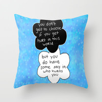 Hurt Throw Pillow by Sierra Christy Art | Society6