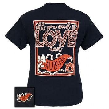 Auburn Tigers All You Need Is Love T-Shirt