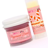 PEPPERMINT DREAM Lip Scrubbie and Lip Balm with SPF 15 Combo Holiday Collection 2017