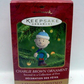 Charlie Brown Ornament by Hallmark Keepsake A Snoopy Christmas Second of Five Collectible Christmas Ornament Peanuts Celebration