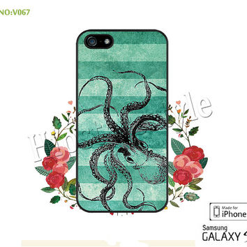 Phone case iPhone 5/5S/5C Case, iPhone 4/4S Case, octopus, S3 S4 S5 Note 2 Note 3 Case for iPhone-B067