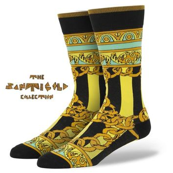 Stance   Gold Links Black, Yellow socks   Buy at the Official website Main Website.