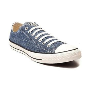 CREYUG7 Converse Chuck Taylor All Star OX Washed Canvas Low Top Sneakers 147038F Navy 10 D(M)
