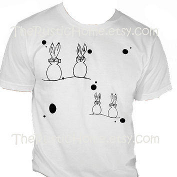 Geek bunnies t-shirt choose your size rabbits in glasses