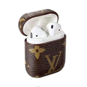LV tide brand AirPods Bluetooth wireless headset cover slip storage cover (no headphones)