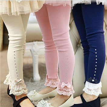 Sweet Girls Cotton Lace Legging 2-10Y