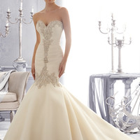 Mori Lee 2682 Beaded Strapless Mermaid Wedding Dress