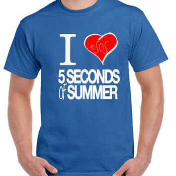 Copy of 5 Seconds of Summer I Heart T-shirt