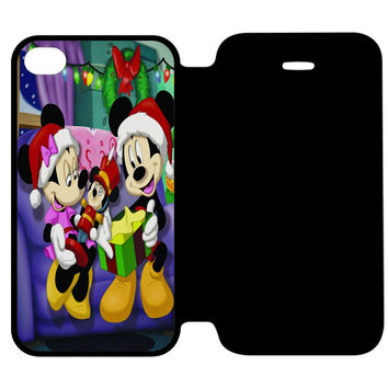 Mickey Mouse and Minnie Mouse iPhone 4 | 4S Flip Case Cover