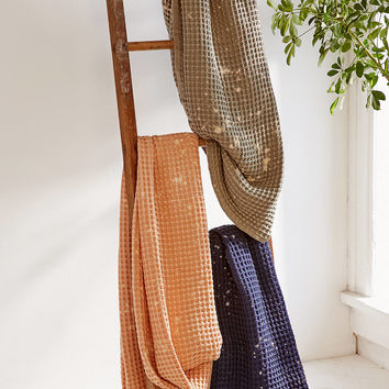 Distressed Waffle Throw Blanket | Urban Outfitters