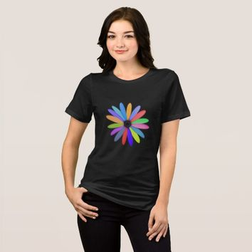 multicolor flower T-Shirt