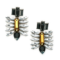 Metallic Spiked Chandelier Earrings