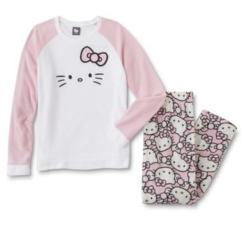 Sanrio Hello Kitty Juniors' Fleece Pajama Top & Pants - Sears