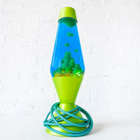 Druhhhgz Lava Lamp - Tantilizing Lime-Green Metallic - Aqua Net Cloth Cord - Hipster - Psychedelic Mood Lighting - High Times - Stoner Vibes