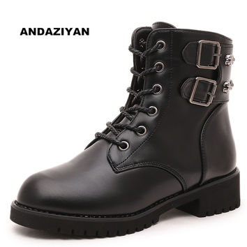 Martin boots tide female knight Women boots in the cylinder with a round head boots Workplace work shoes