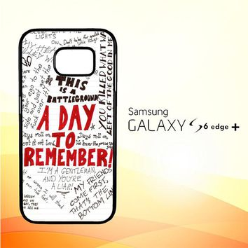 A Day To Remember WALLPAPER Y0237 Samsung Galaxy S6 Edge Plus Case