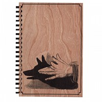 Wood Notebook Shadow Dog Large