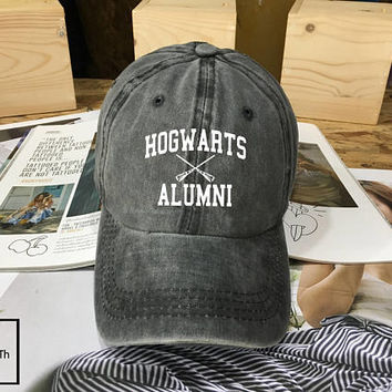 Hogwarts Alumni Harry Potter Hogwarts hat - Baseball Cap, Dad Hat Baseball Hat, Low-Profile Baseball Cap Tumblr Hogwarts School