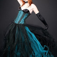 Gothic Cosplay Anime Formal Le,mm,,mngth Prom Tutu
