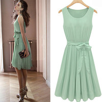 Cheap New Mint Green Bat Sleeve Dress