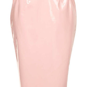 Pale Pink Vinyl Pencil Skirt - Skirts - Clothing - Topshop USA