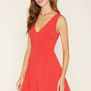 Scalloped A-Line Dress | Forever 21 - 2000176402