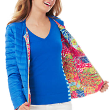 Printed Reversible Quilted Lilah Jacket - Lilly Pulitzer