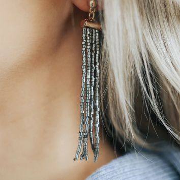 Champagne Pop Earrings - Hematite