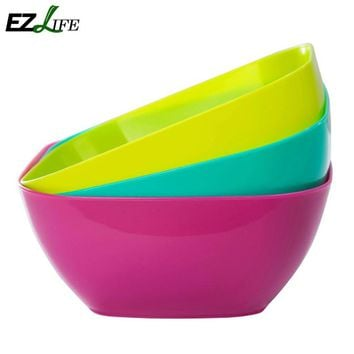 Food-grade plastic square salad bowl fruit plate, fruit plate seeds small snack candy dish dried fruit bowls KT0704