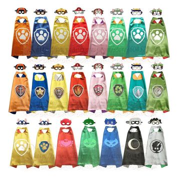 PAW - Cape and Mask Set Patrol Costume kids birthday party favor Superhero Style Cosplay Costumes and Halloween Gift