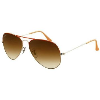 Rayban Original 3026 Aviator Unisex Sunglasses Dark Brown