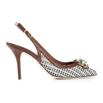 Dolce & Gabbana Jewel Embellished Pumps