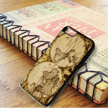 Nauctical Brown World Map iPhone 6 | iPhone 6S Case
